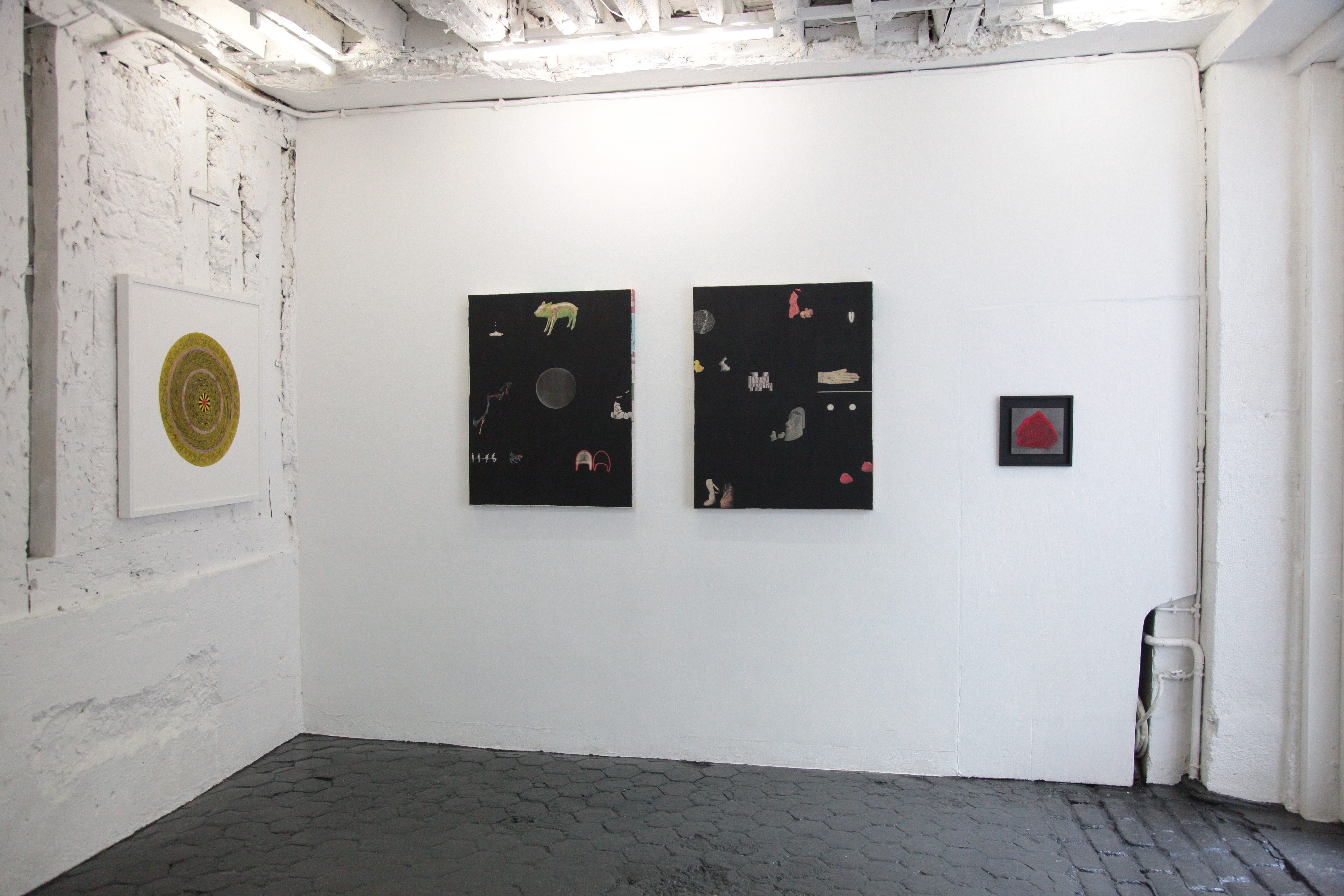 BLACK AND WHITE AND RED ALL OVER Stephen Dean, Anne Deleporte, galerie l'inlassable
