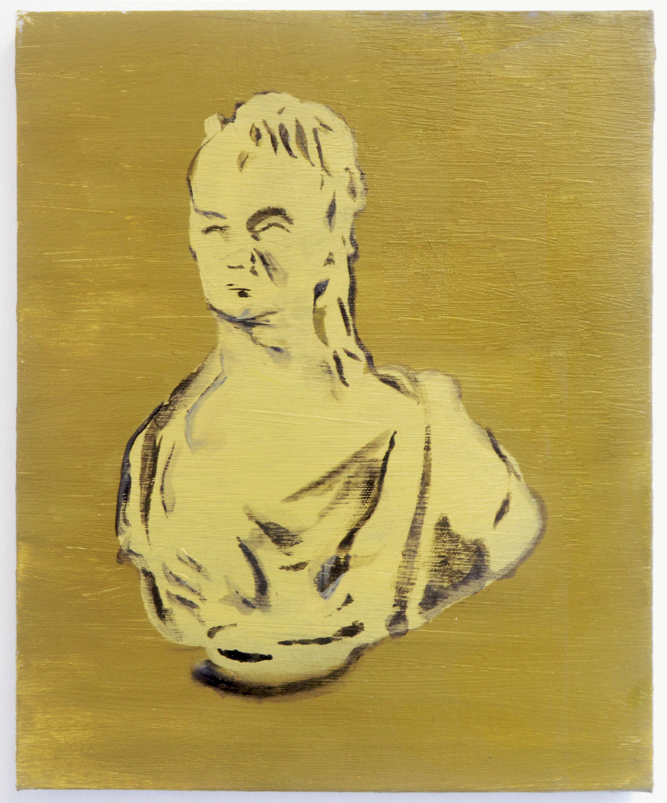 Galerie L'Inlassable, Matthew Cole, Bust, 2019, acrylic on canvas, 30 x 24 cm / 11,7 x 9,3 inches, Paris